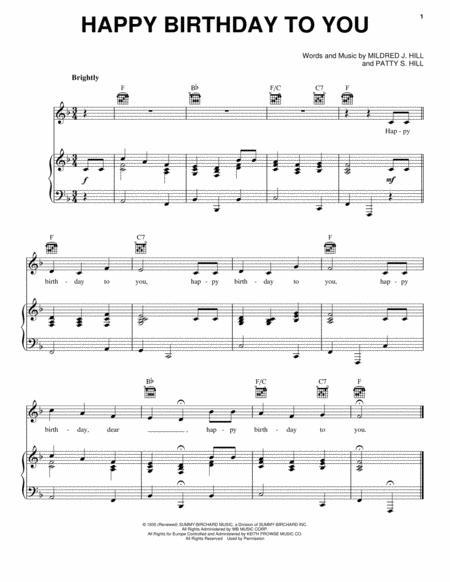 Happy birthday stevie wonder chords