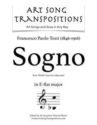 Sogno (E-flat major) sheet music