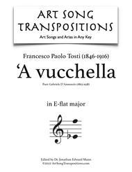 'A vucchella (E-flat major) sheet music