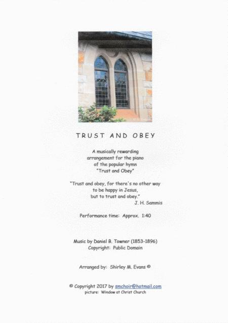 trust and obey sheet music to download and print - World