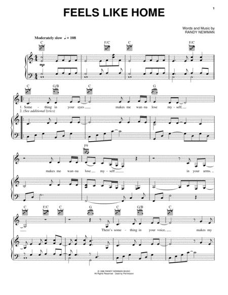 feels like home piano sheet music free chantal kreviazuk