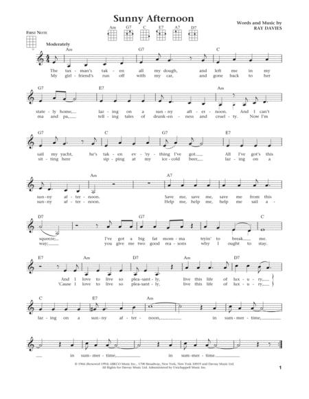 The Kinks Sheet Music To Download And Print World Center Of