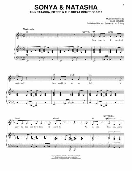 no one else natasha pierre sheet music pdf