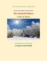 """Simon And Garfunkel  Sheet Music """"The Sound Of Silence"""" for Cello and Piano Song Lyrics Guitar Tabs Piano Music Notes Songbook"""