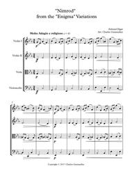 """""""Nimrod"""" from the """"Enigma"""" Variations - String Quartet sheet music"""