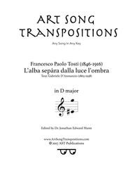 L'alba sepC ra dalla luce l'ombra (D major) sheet music