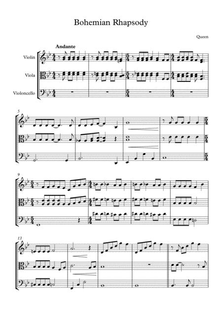 Bohemian Rhapsody Cello sheet music to download and print