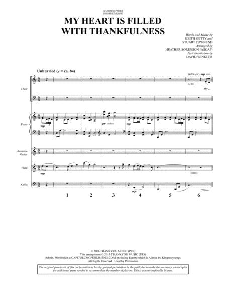 Keith Getty sheet music to download and print - World center of