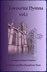 Various  Sheet Music 16 Favourite Hymns Vol.1 for Flute and Alto Saxophone Duet Song Lyrics Guitar Tabs Piano Music Notes Songbook
