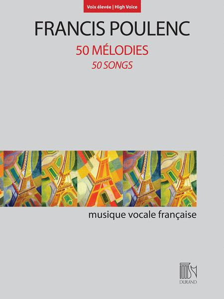 Sheet Music Francis Poulenc 50 Melodies 50 Songs High