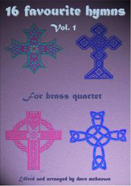 Various  Sheet Music 16 Favourite ?Hymns for Brass Quartet (Vol 1.) Song Lyrics Guitar Tabs Piano Music Notes Songbook