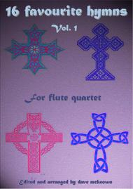 Various  Sheet Music 16 Favourite ?Hymns for Flute Quartet (Vol 1.) Song Lyrics Guitar Tabs Piano Music Notes Songbook