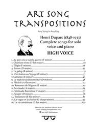 Duparc: Complete songs (High voice) sheet music