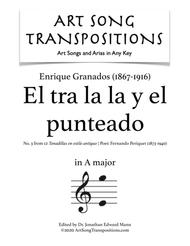 El tra la la y el punteado (A major) sheet music
