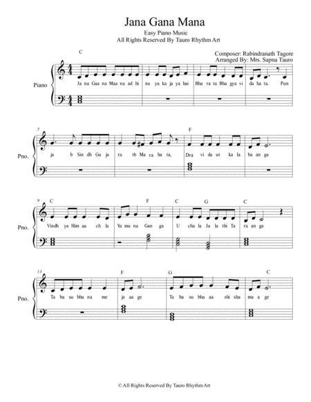 how to play jana gana mana on piano