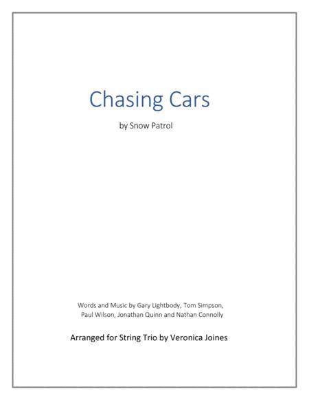 chasing cars snow patrol piano sheet music pdf