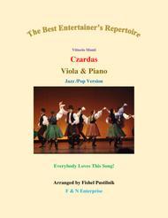 "Vittorio Monti  Sheet Music ""Czardas"" for Viola and Piano Song Lyrics Guitar Tabs Piano Music Notes Songbook"