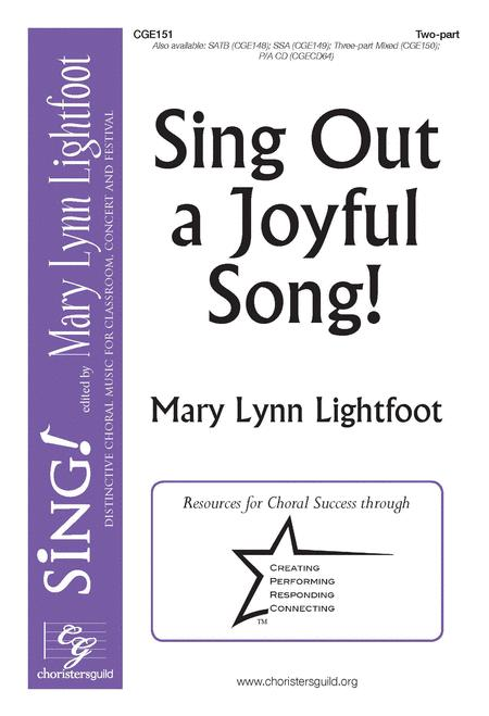 Sheet music: Sing Out a Joyful Song! (Choral 2-part)