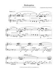 "Gary Girouard  Sheet Music ""Redemption"" Solo Piano Sheet Music Song Lyrics Guitar Tabs Piano Music Notes Songbook"