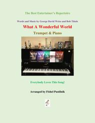 """""""What A Wonderful World"""" for Trumpet and Piano-Jazz/Pop Version sheet music"""