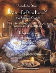 Mary, Did You Know? (for Saxophone Quintet SATTB or AATTB) sheet music