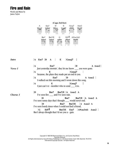 James Taylor sheet music to download and print - World center of ...