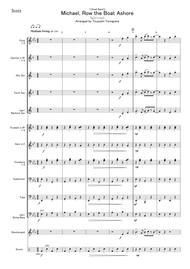 (Spiritual)  Sheet Music <Small Band>Michael, Row the Boat Ashore Song Lyrics Guitar Tabs Piano Music Notes Songbook