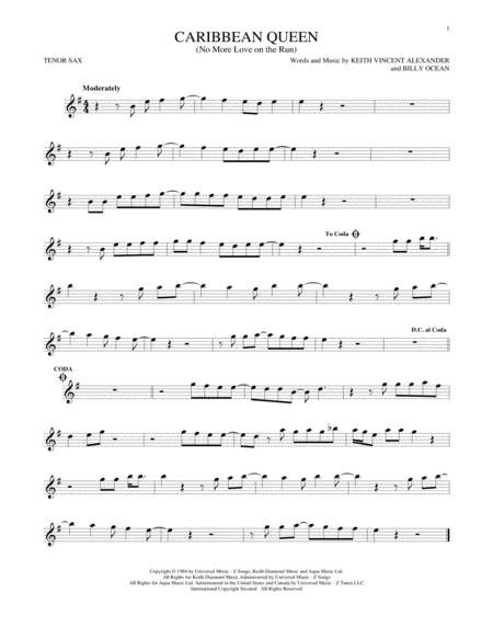 Billy Ocean sheet music to download and print - World center of ...