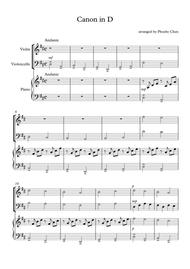 photograph relating to Canon in D Piano Sheet Music Free Printable titled Obtain Electronic Sheet Tunes for Piano Trio: piano, violin