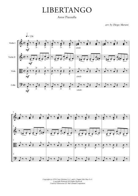 Download Digital Sheet Music of libertango for String