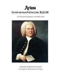"""Johann Sebastian Bach  Sheet Music """"Arrioso"""" from Ich steh mit einem Fuß im Grabe, BWV 156 - for Woodwind Quintet with Oboe Solo Song Lyrics Guitar Tabs Piano Music Notes Songbook"""
