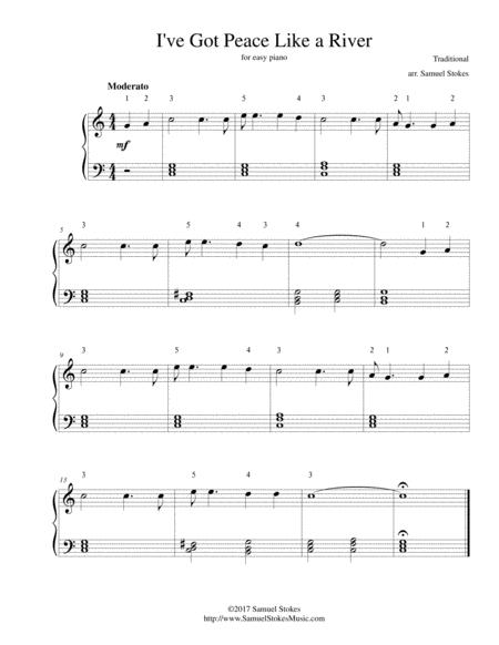 peace is flowing like a river sheet music pdf