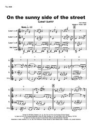 On the sunny side of the street - Jazz Classic - Clarinet Quartet sheet music