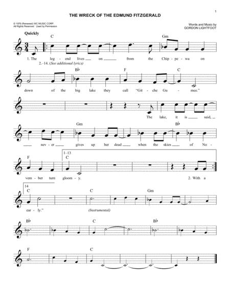 Gordon Lightfoot sheet music to download and print - World
