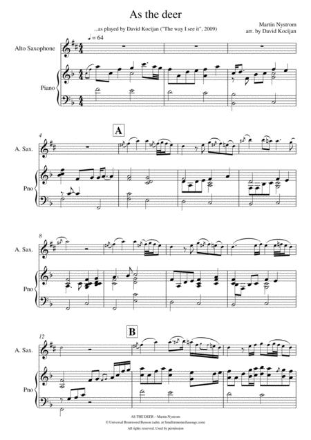 photograph regarding Free Printable Alto Saxophone Sheet Music named Down load Electronic Sheet New music for Alto Saxophone and Piano