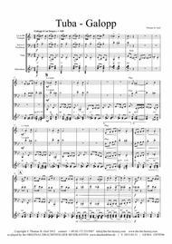 Tuba Galopp - Fast Polka - Oktober Fest - German Band sheet music