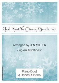 """""""God Rest Ye Merry Gentlemen"""" Piano Duet, 4 Hands 1 Piano sheet music"""