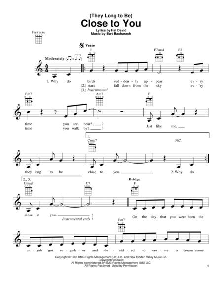 The Carpenters sheet music to download and print - World