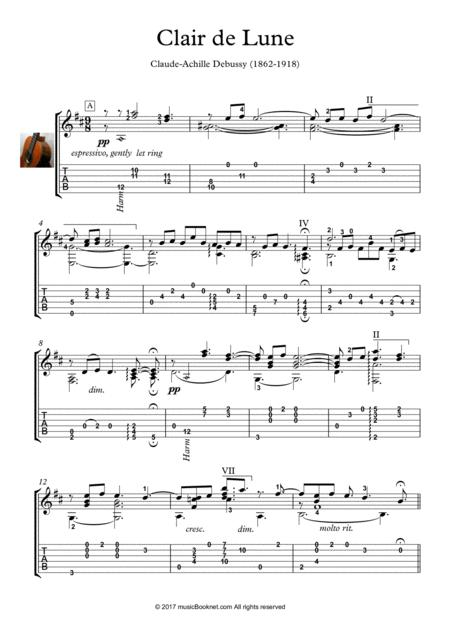Download Digital Sheet Music of Guitar Romantic for Guitar notes and