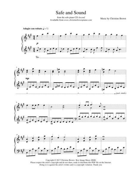 Pdf sound safe sheet and piano music