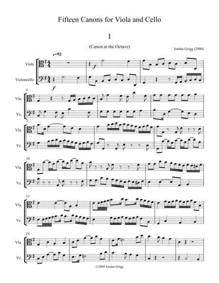 Download Digital Sheet Music for Viola, Cello (duet)