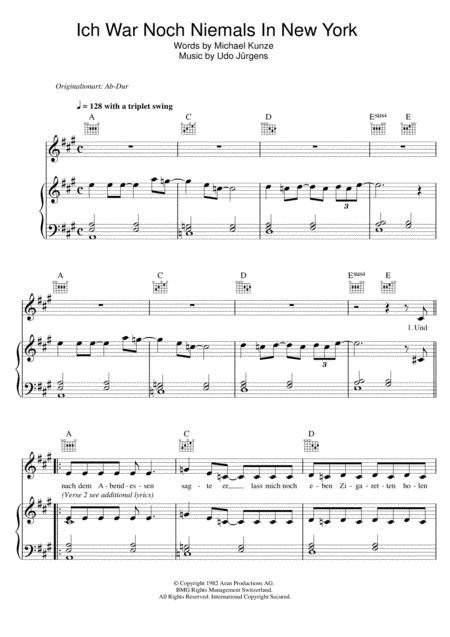 Udo Jurgens Sheet Music To Download And Print World Center Of