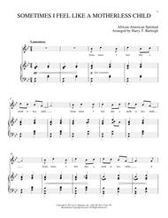 SOMETIMES I FEEL LIKE A MOTHERLESS CHILD sheet music to download and