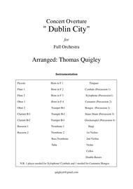 """"""" Dublin City"""" (Concert Overture) sheet music"""