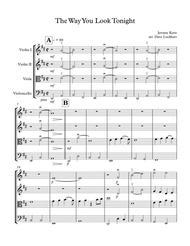 """The Way You Look Tonight"" String Quartet sheet music"
