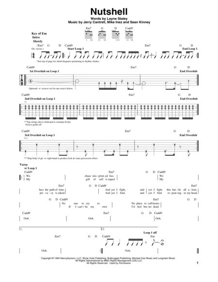 Buy Alice In Chains Sheet Music Tablature Books Scores