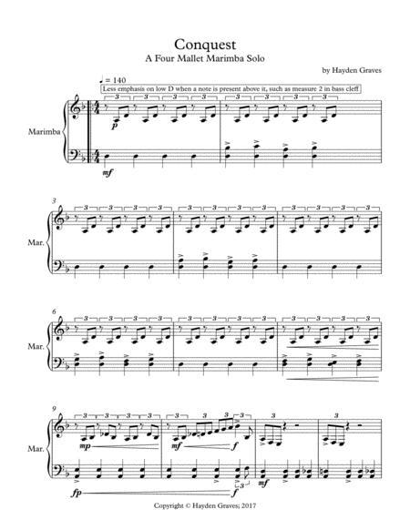 Download Digital Sheet Music for Marimba