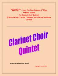 """Winter"" from the Four Season 1 st Mov. - Clarinet Choir Quintet sheet music"