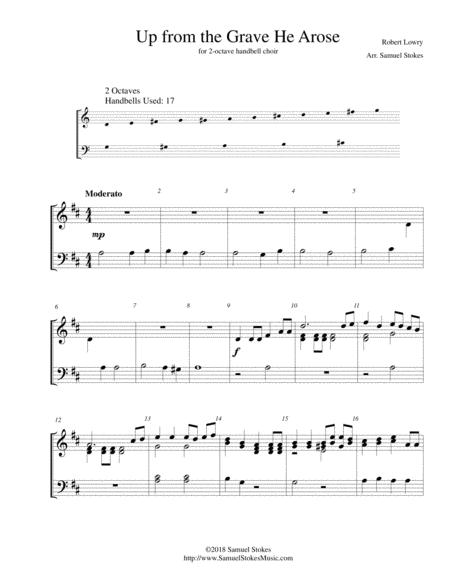 up from the grave he arose sheet music pdf