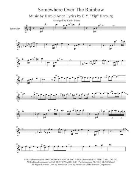 Download Digital Sheet Music for Tenor Saxophone